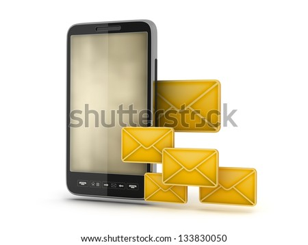 Mobile technology - abstract illustration - stock photo