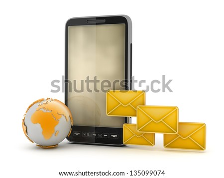 Mobile technology - Short Message Service (SMS) - stock photo