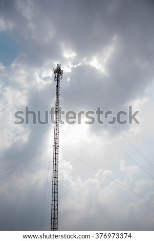 Mobile Telephone Signal Post tower with vignette