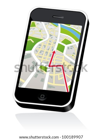Mobile Touch Phone with street Map
