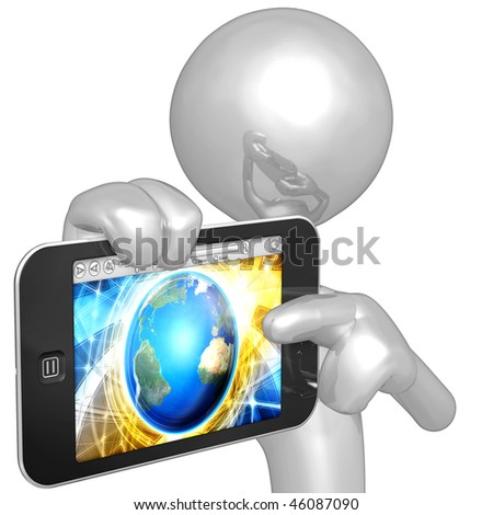 Mobile Touch Screen Device - stock photo