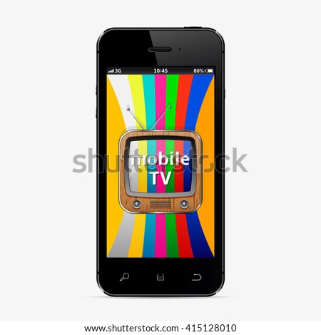 Mobile TV Concept - stock photo