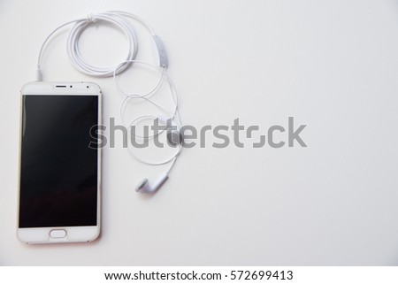 mobile with headphones