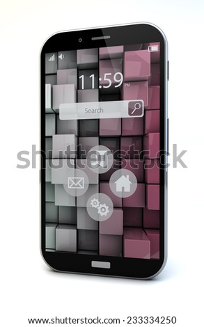 mobility concept: touchscreen smartphone - stock photo