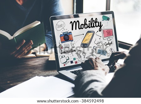Mobility Smartphone Communication Technology Concept - stock photo