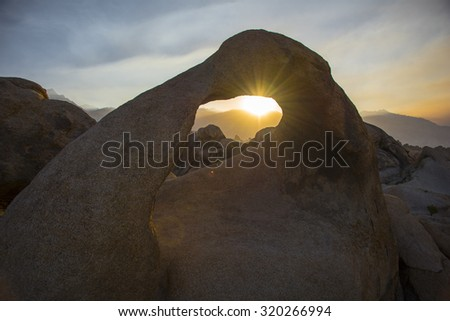 Mobius Arch Sunset. - stock photo