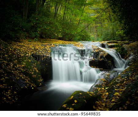 Moccasin Creek Cascade - stock photo