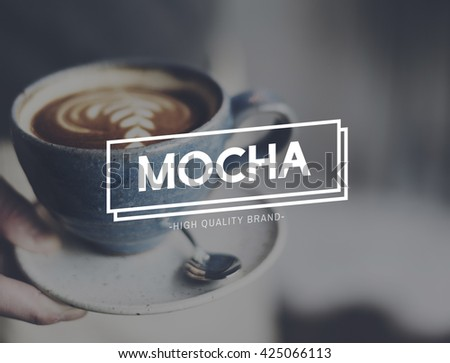 Mocha Art Cafeine Chocolate Cocoa Coffee Mug Concept