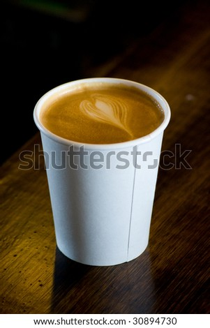 mocha carry out - stock photo
