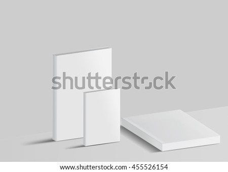 Mock-up book isolated on a gray background for your design.