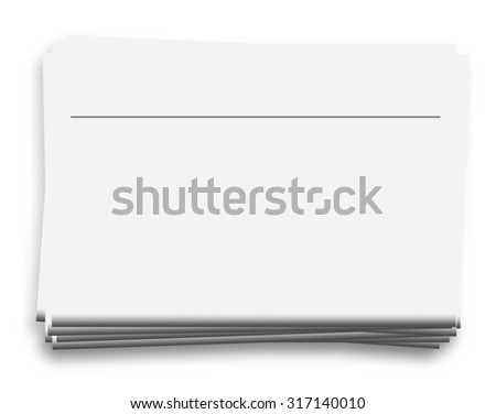 Mock up of  blank newspapers with headline, to add your own news, advertisement or headline text and pictures,  isolated on white background