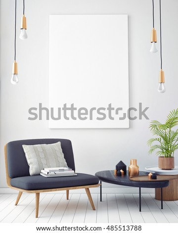 mock poster vintage pastel hipster minimalism stock illustration