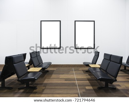 Mock Posters Display Interior Waiting Room Stock Photo 721794646 ...