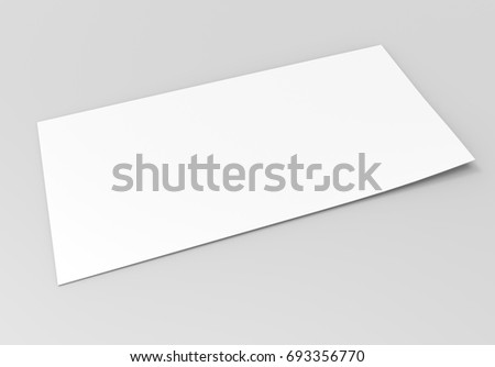Blank Bifold Square Brochure Leaflet Pamphlet Stock Illustration