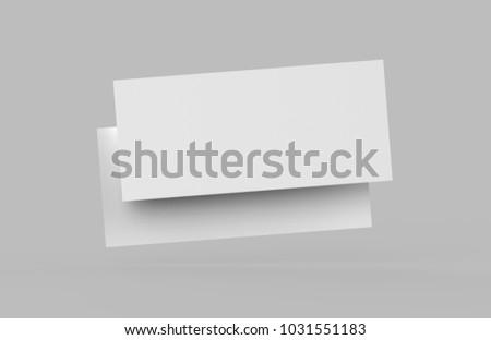 Mock Template Gift Voucher Card On Stock Illustration 1031551183 ...