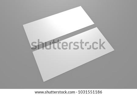 Mock Template Gift Voucher Card On Stock Illustration 1031551186 ...