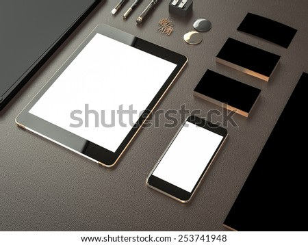 Mockup business template. High.  resolution - stock photo