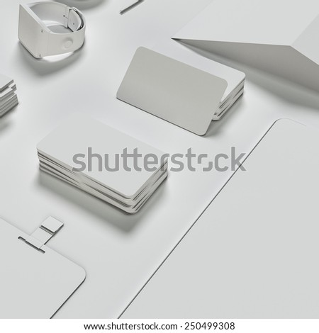Mockup business template. High resolution 3d render