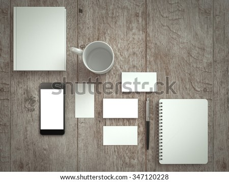 Mockup business template. Set of business cards. Mock-up for branding identity.  - stock photo