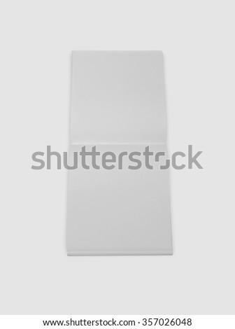 Mockup copybook, notebook. Gray paper - stock photo