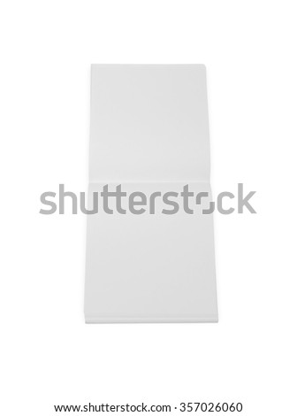 Mockup copybook, notebook. White paper - stock photo