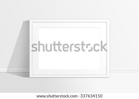 Mockup Of Blank White Frame Against The Wall Interior Design Decor Background
