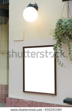Mockup of restaurant menu board. Isolated with clipping path - stock photo