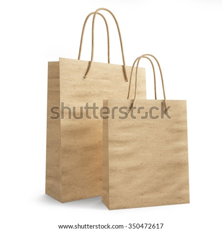 mockup paper shopping bag. 3d