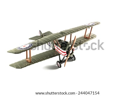 Model airplane on isolated - stock photo