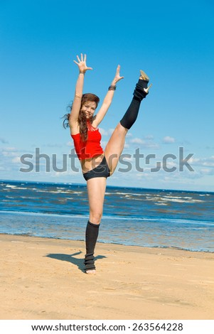 Model Background Fun  - stock photo