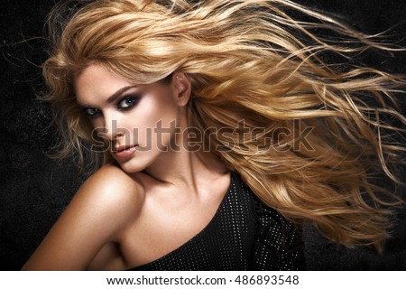 Hair extensions stock images royalty free images vectors model blonde girl beautiful brown hair girl healthy long hair pmusecretfo Images