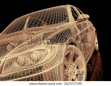 model cars - stock photo