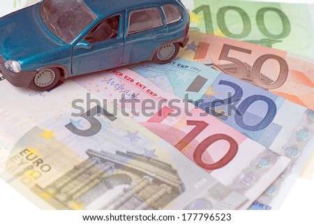 Model Cars and euro banknotes / Car and money