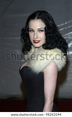Model DITA VON TEESE at the General Motors
