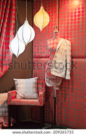 Model for cloth with lighting studio