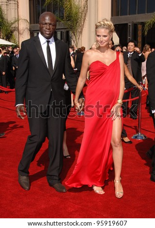 Model HEIDI KLUM & husband SEAL at the 2006 Primetime Emmy Awards at the Shrine Auditorium, Los Angeles. 8 27, 2006 Los Angeles, CA  2006 Paul Smith / Featureflash