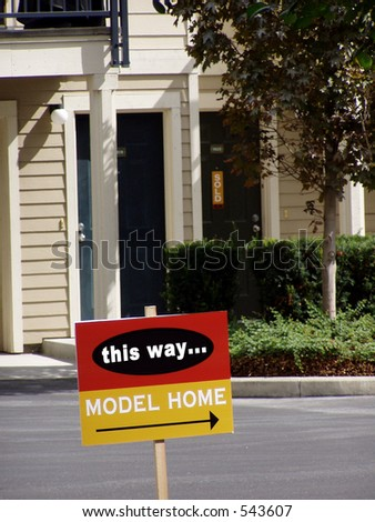 model home sign condominium complex sold stock photo royalty free