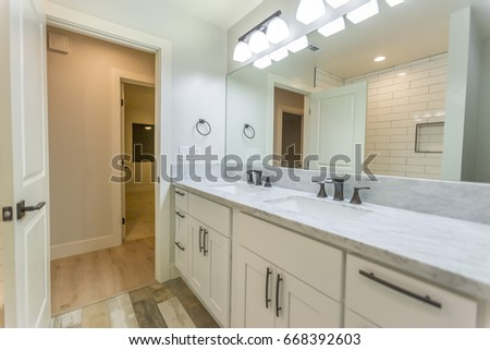 Model Homes Always Show Off Beautiful Stock Photo 668392603 ...