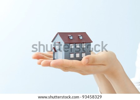 Model house on hands