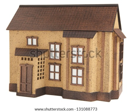 Model house on white background