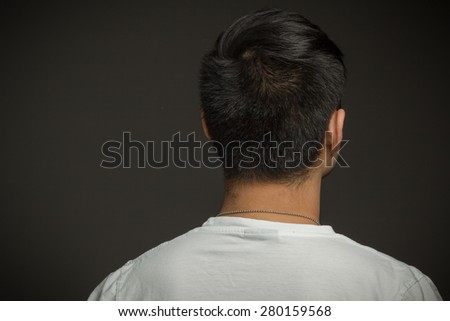 Model isolated from behind - stock photo