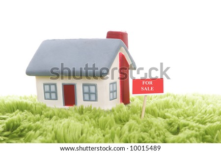 Model of a detached house - stock photo