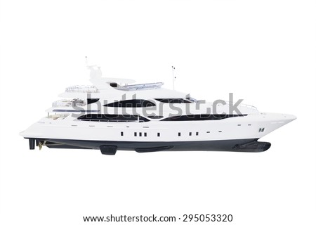 model of a motor boat under the white background