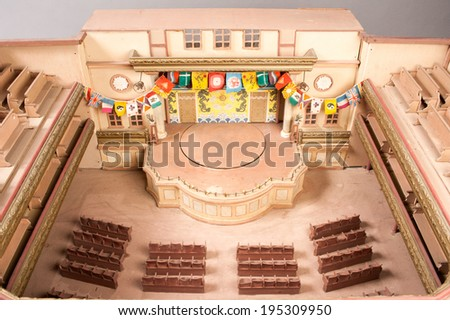 Model of an opera on Chinese Theatre in miniature - stock photo