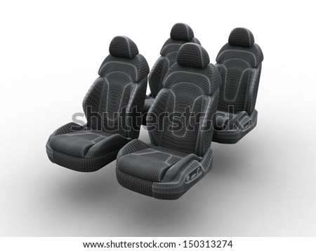 Model of car seats