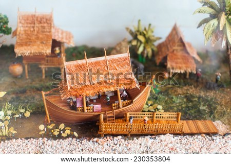 Model of thai home - stock photo