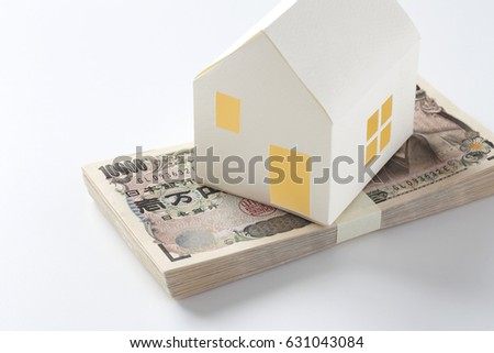 Model of the house on the Japanese Yen
