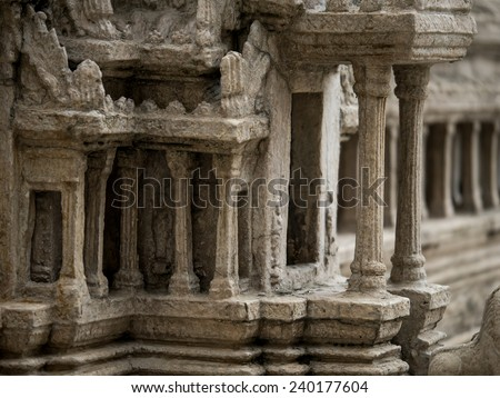 Model of the old temple in the rand Palace in Bangkok, Thailand - stock photo