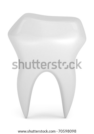 Model of tooth isolated on white - stock photo