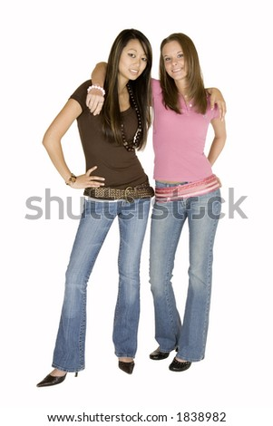 Model Release 315 Two woman - stock photo
